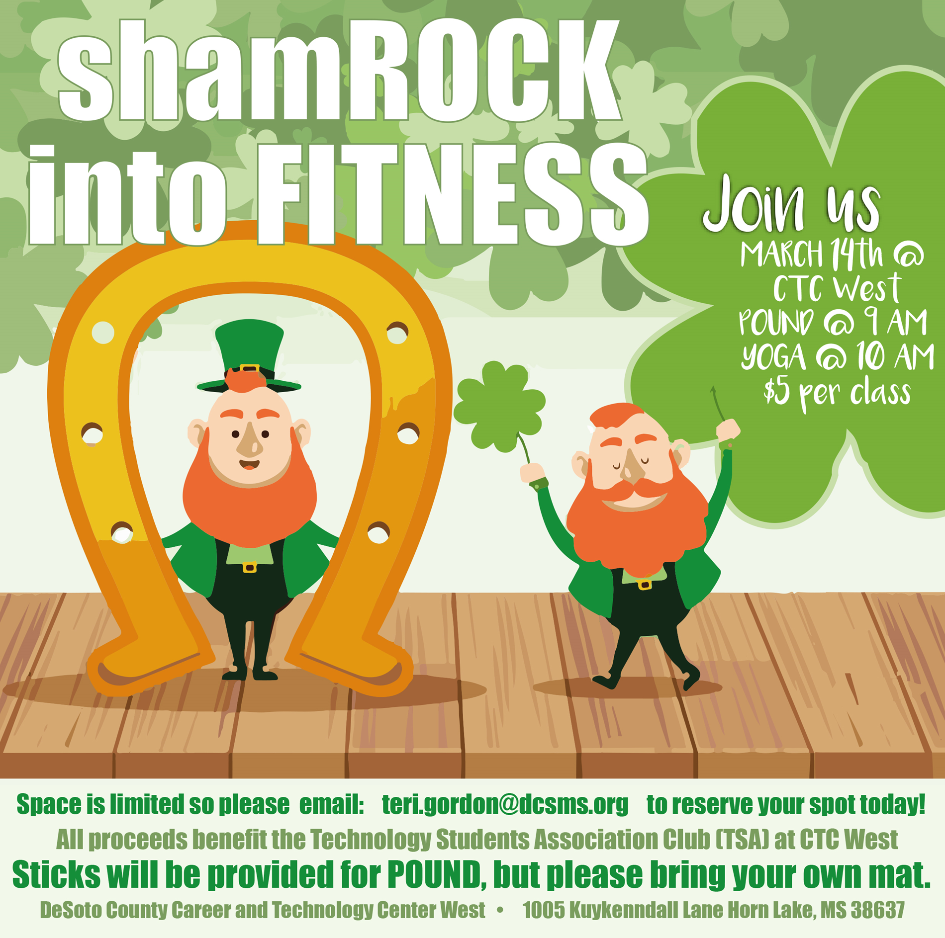 shamrock into fitness flyer