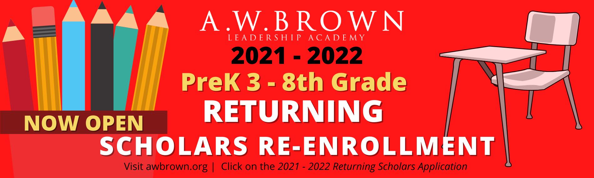 Returning Scholars Re- Enrollment