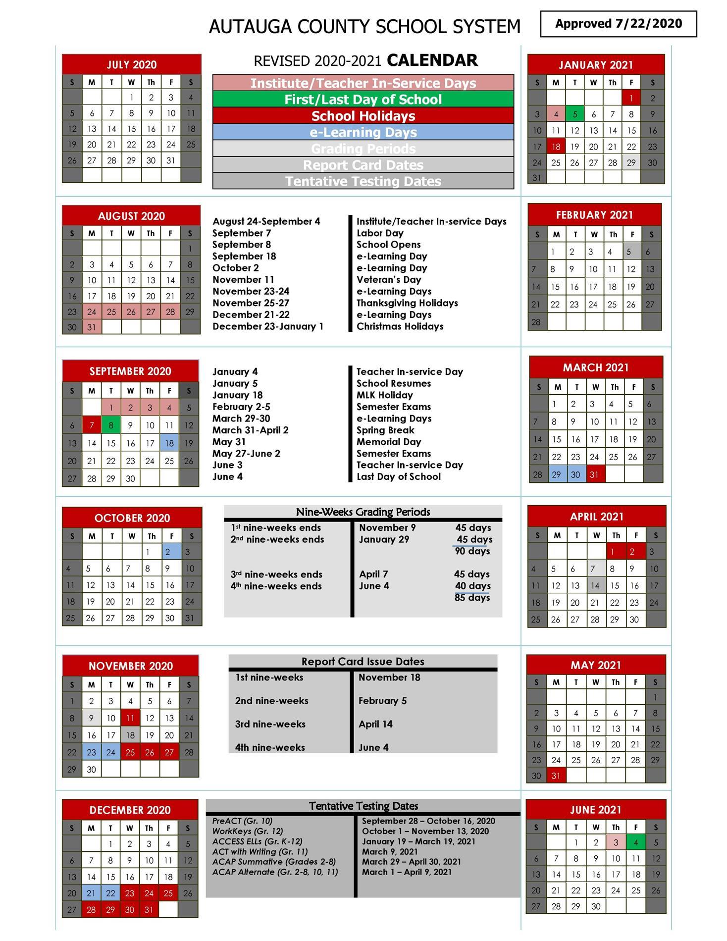 ACBOE Calendar