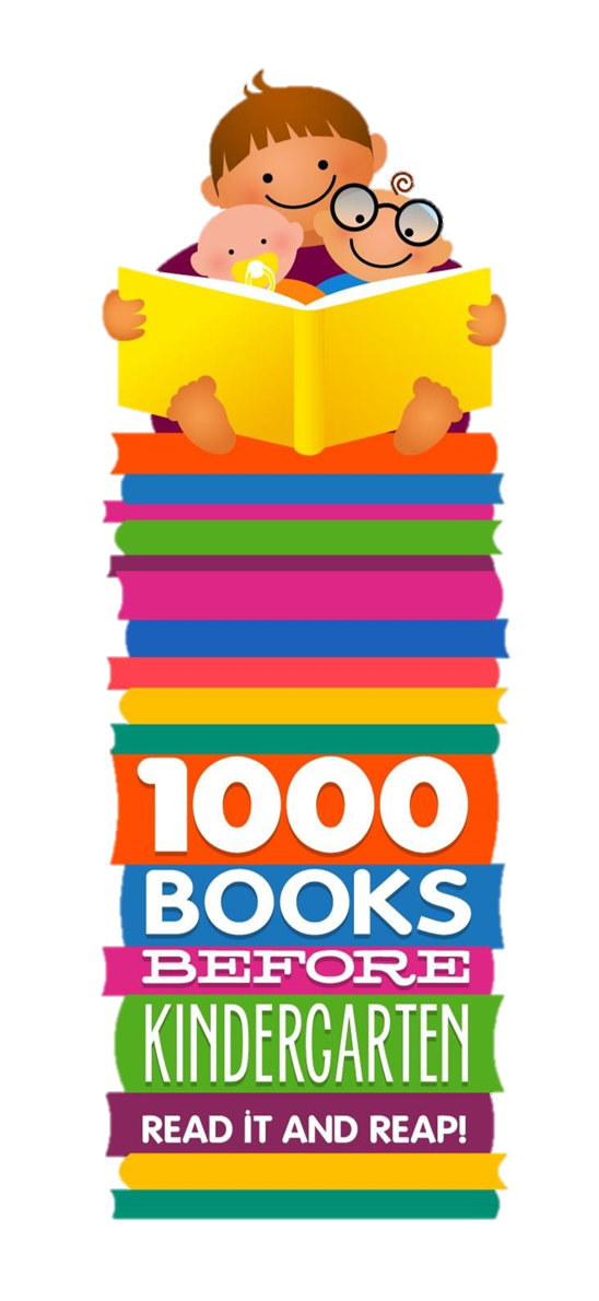 1000 Books Before Kindergarten logo with link to website