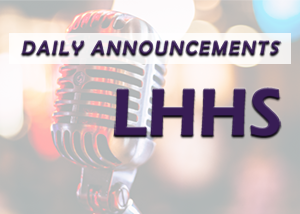 daily announcement LHHS