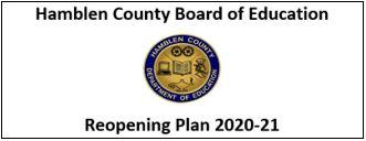 HCBOE reopening logo