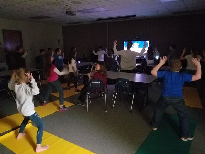 Yoga in afterschool at NES