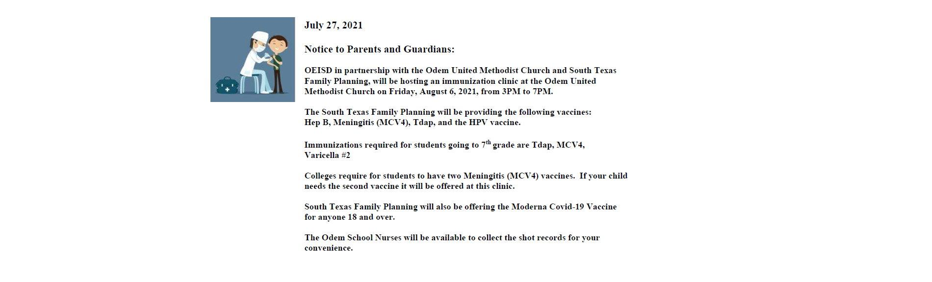 Notice to Parents and Guardians