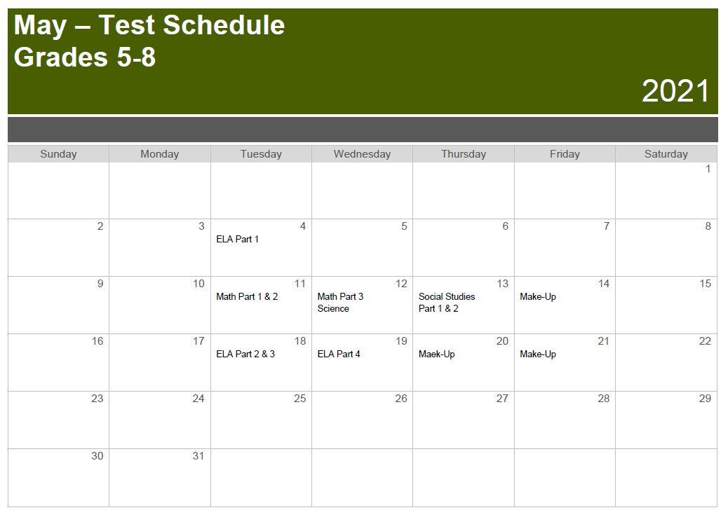 TCAP Schedule