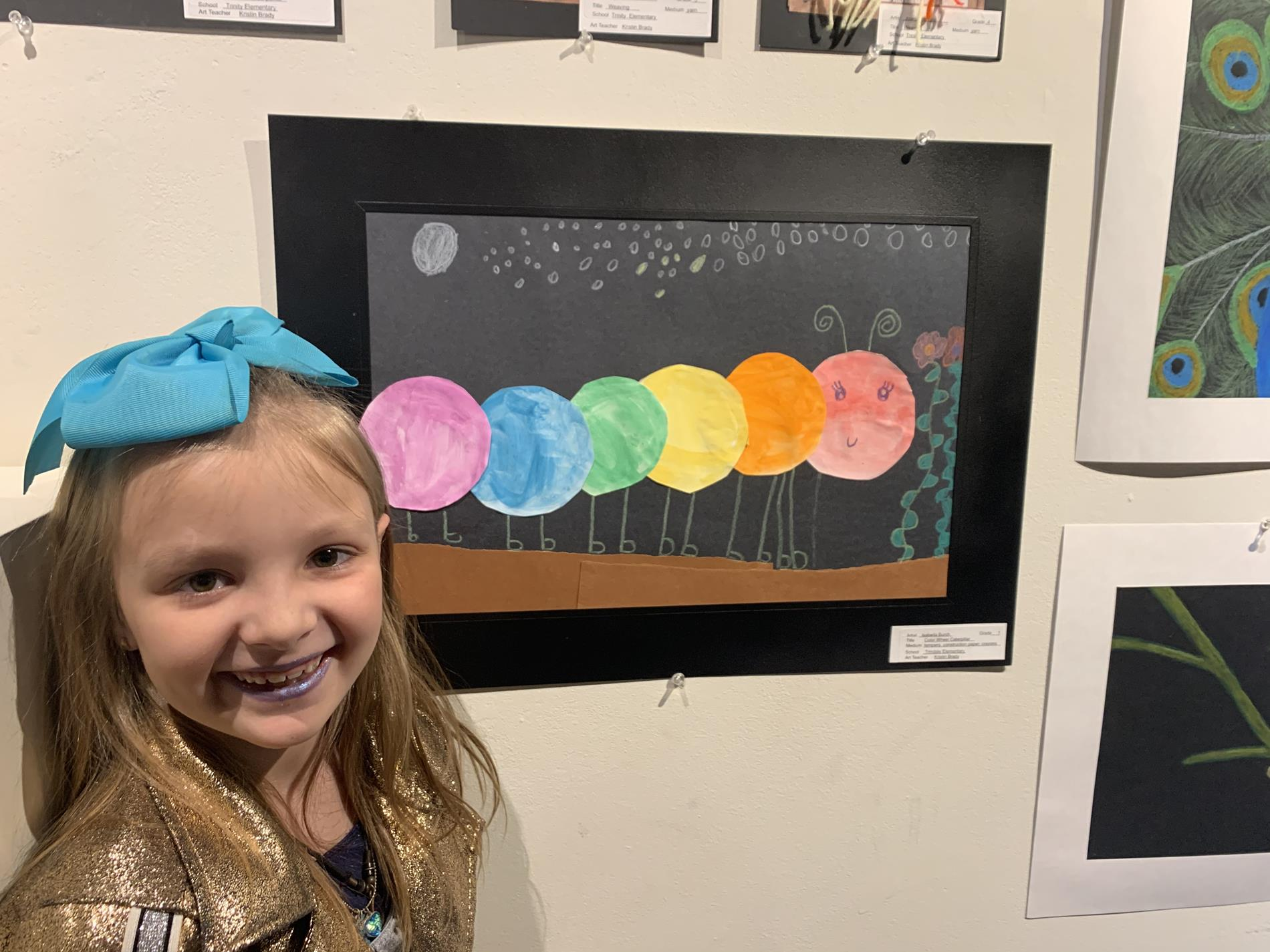 Student with Art