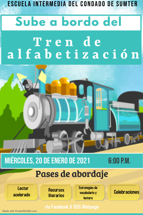 Literacy Train Flyer Spanish