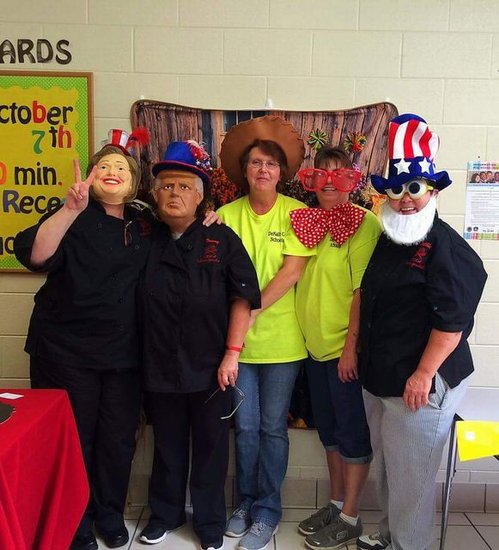 Our nutrition staff having fun at the photo booth.