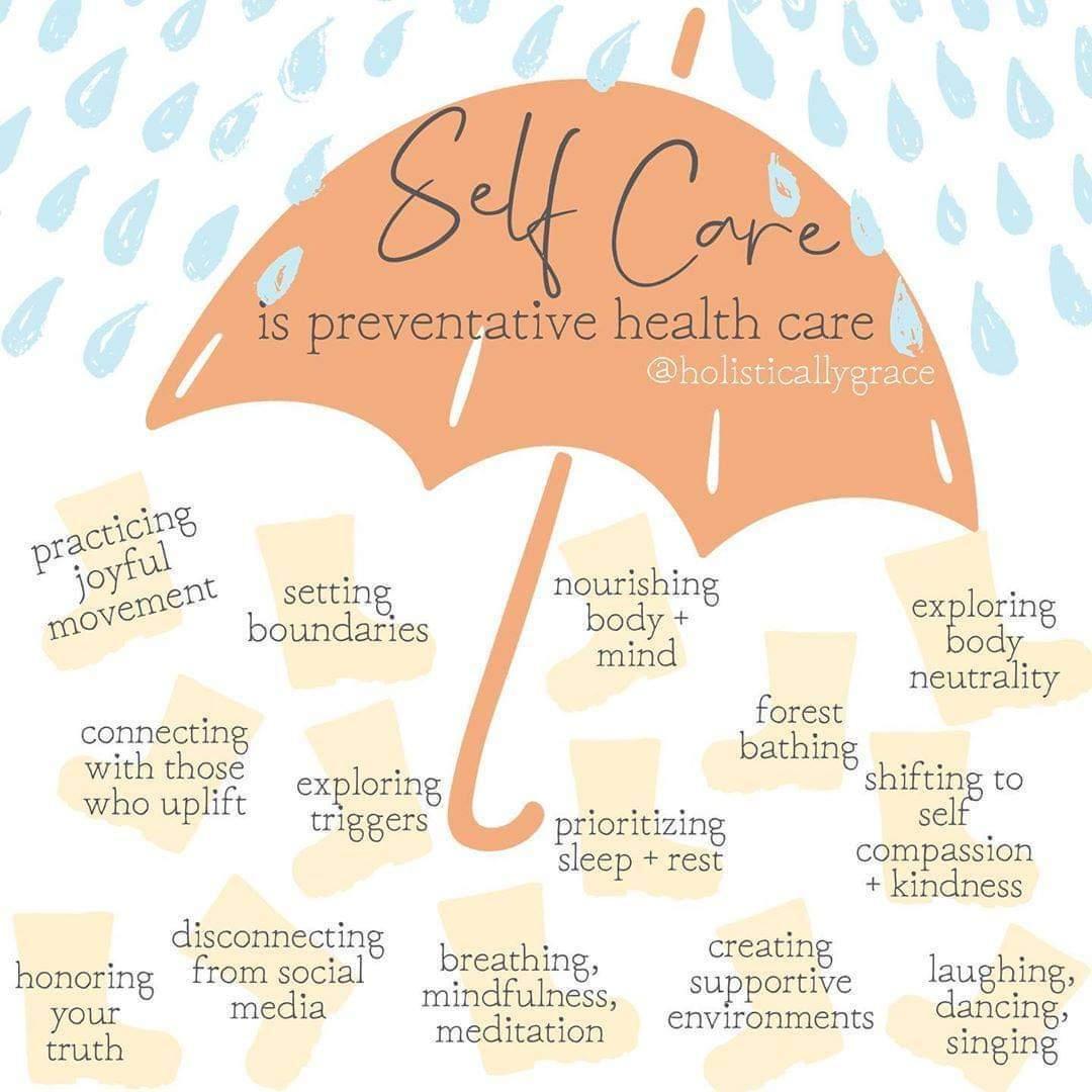 Self Care Umbrella Infographic