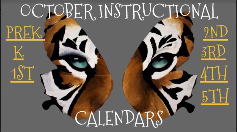 October Instructional Calendars