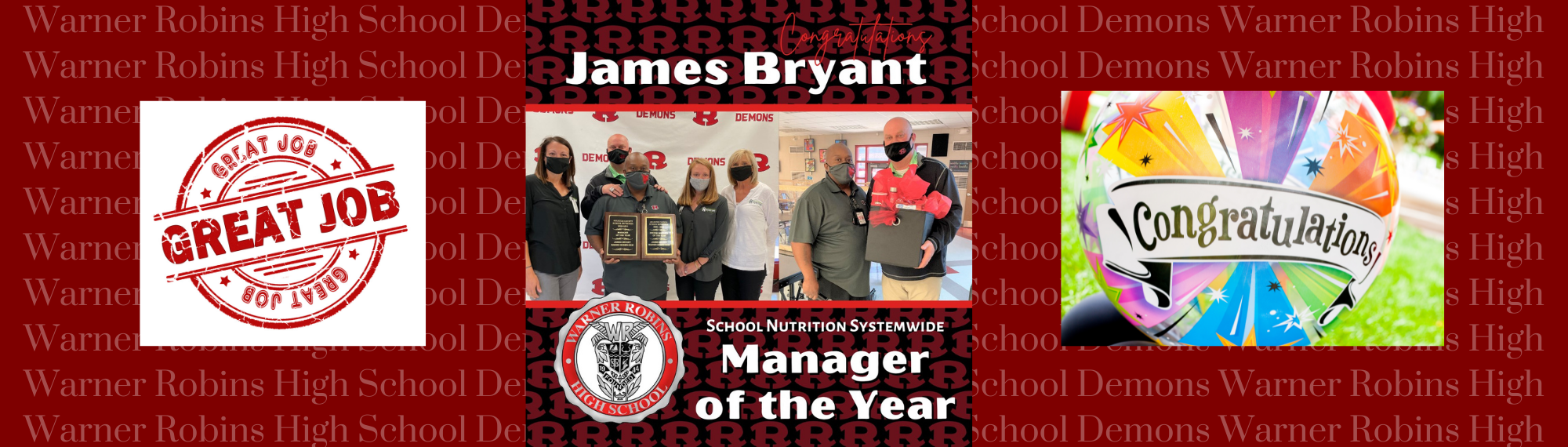 James Bryant--School Nutrition Manager of the Year