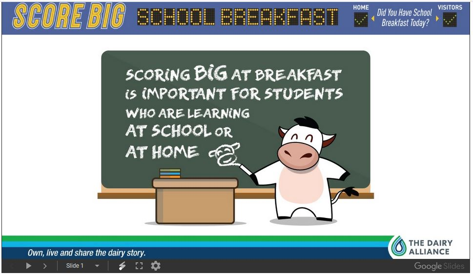 Score Big School Breakfast