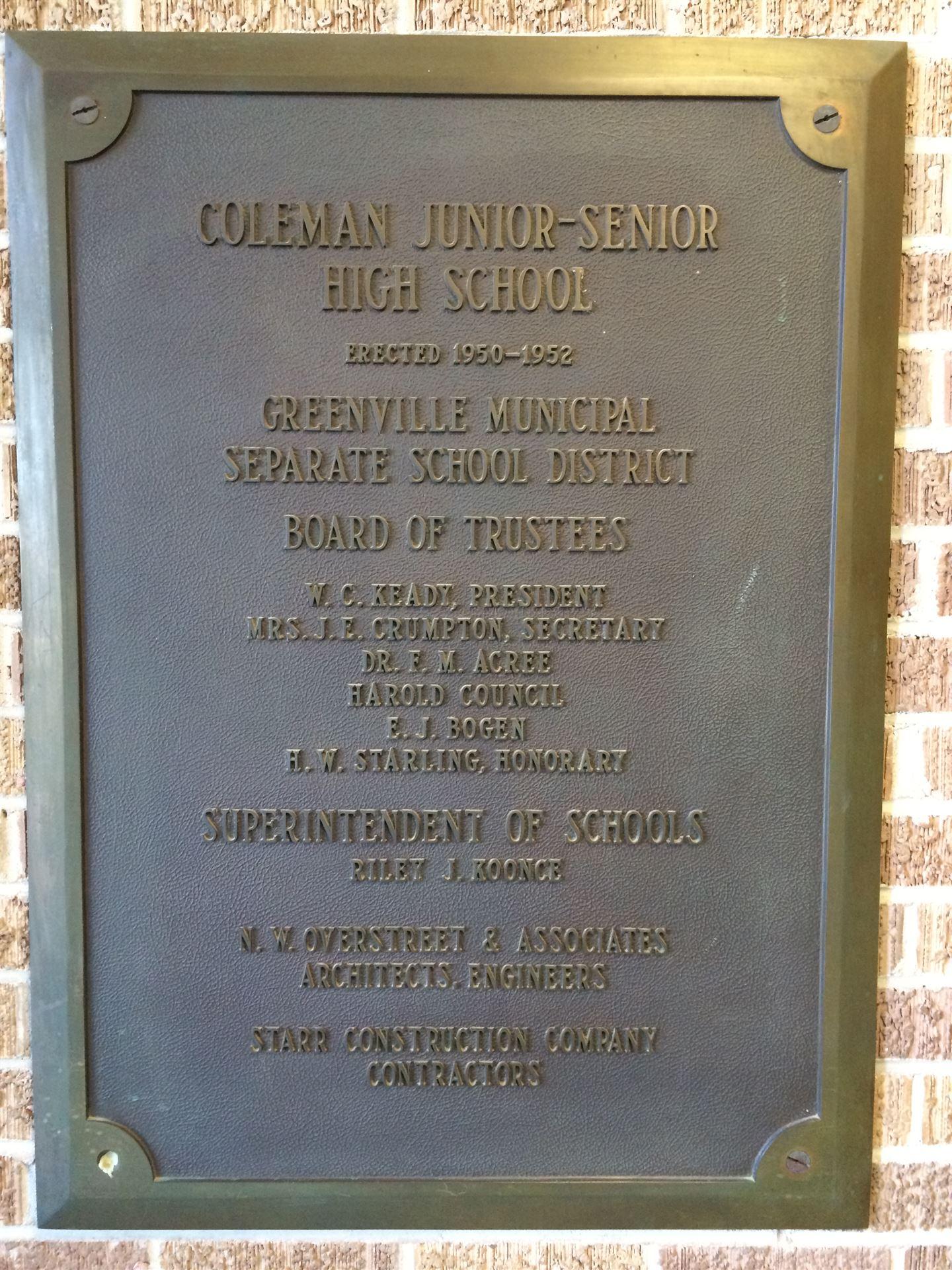 Coleman History Marker