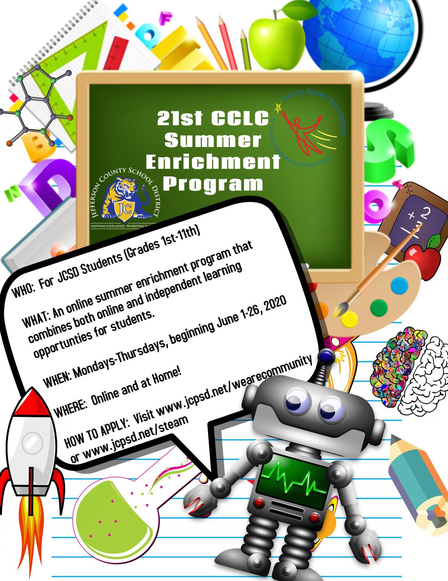 21st CCLC Online Summer Enrichment