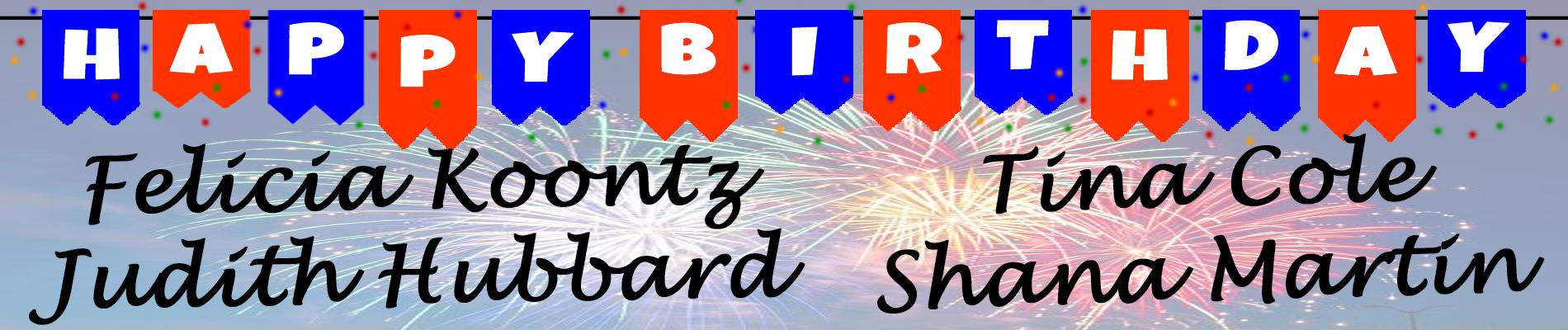 July Birthday Banner