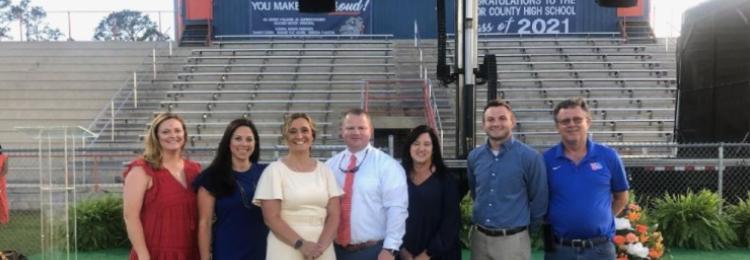 Administrators at TCHS Graduation