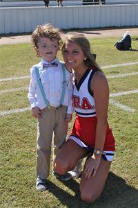 cheerleader with special needs boy