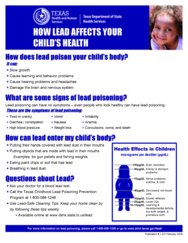 How Lead Affects Your Child's Health English