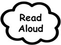 Read Aloud thought bubble graphic
