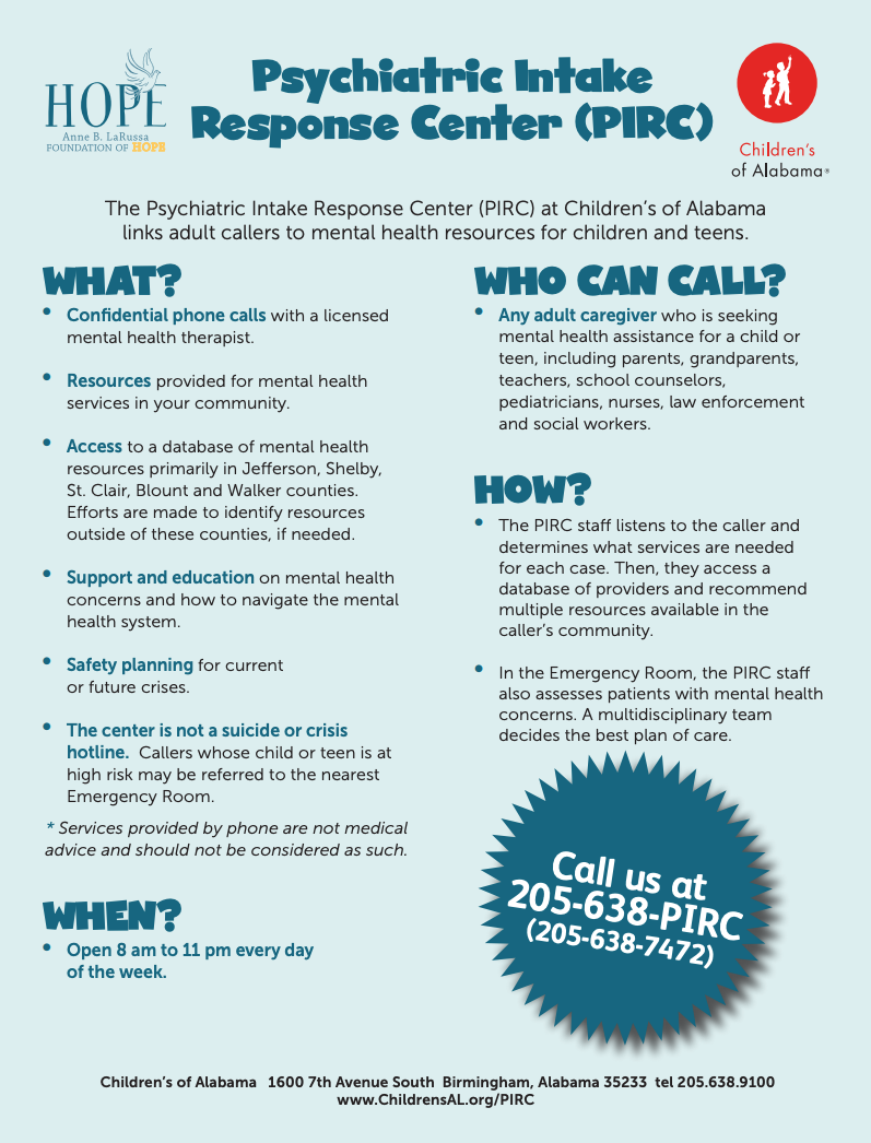 Psychiatric Intake Responce Center