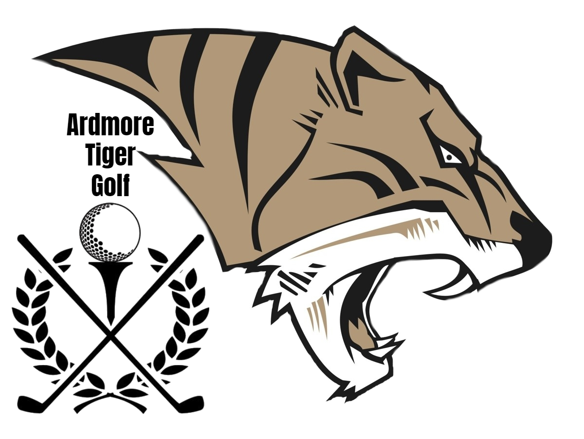 AHS Tiger Head Golf Logo