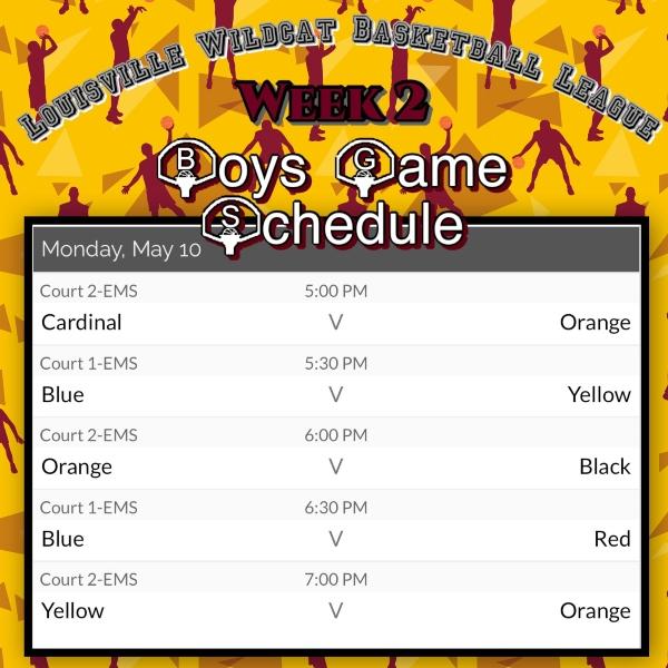 B Ball Schedule 8