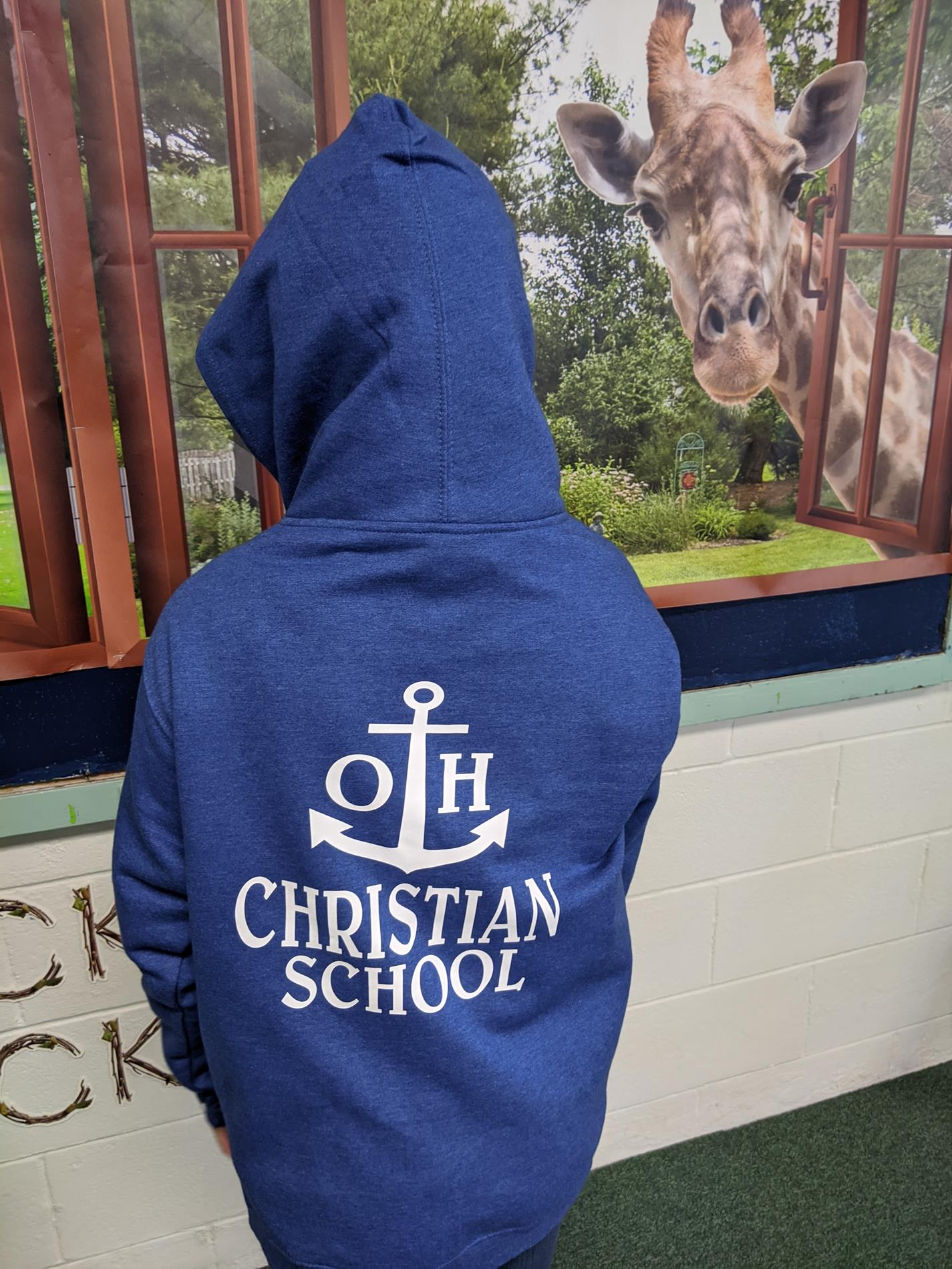 Youth sweatshirt back view