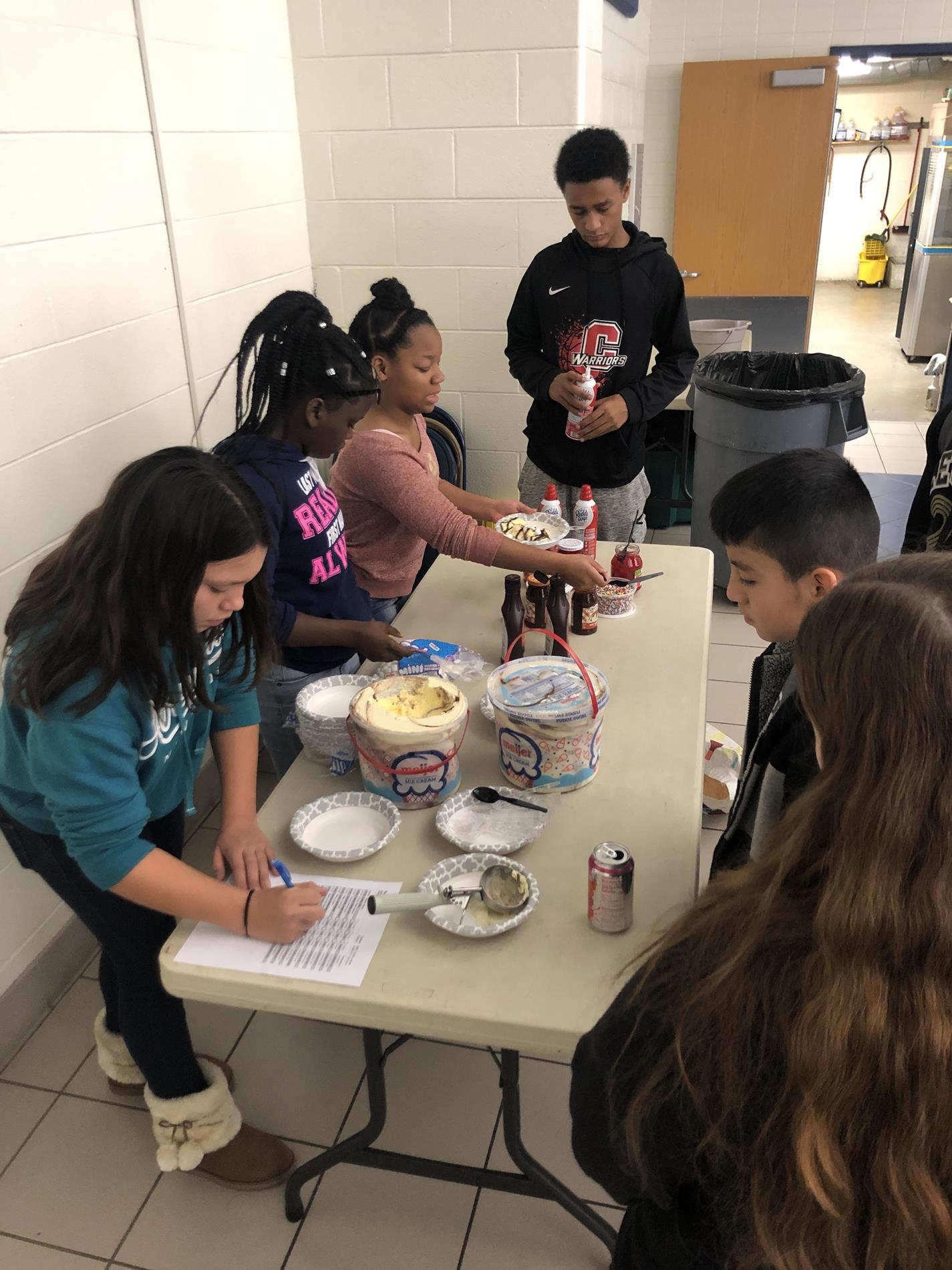 NJHS Ice Cream Service Project