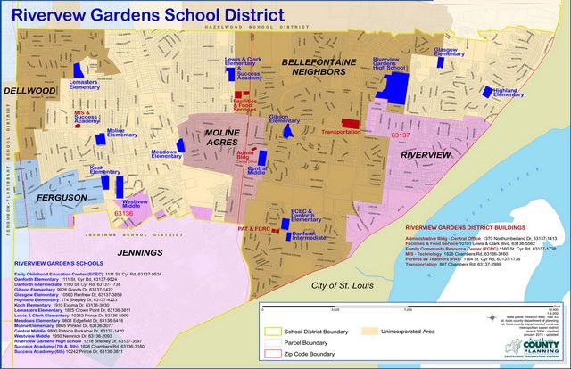 Riverview Gardens School District - Map