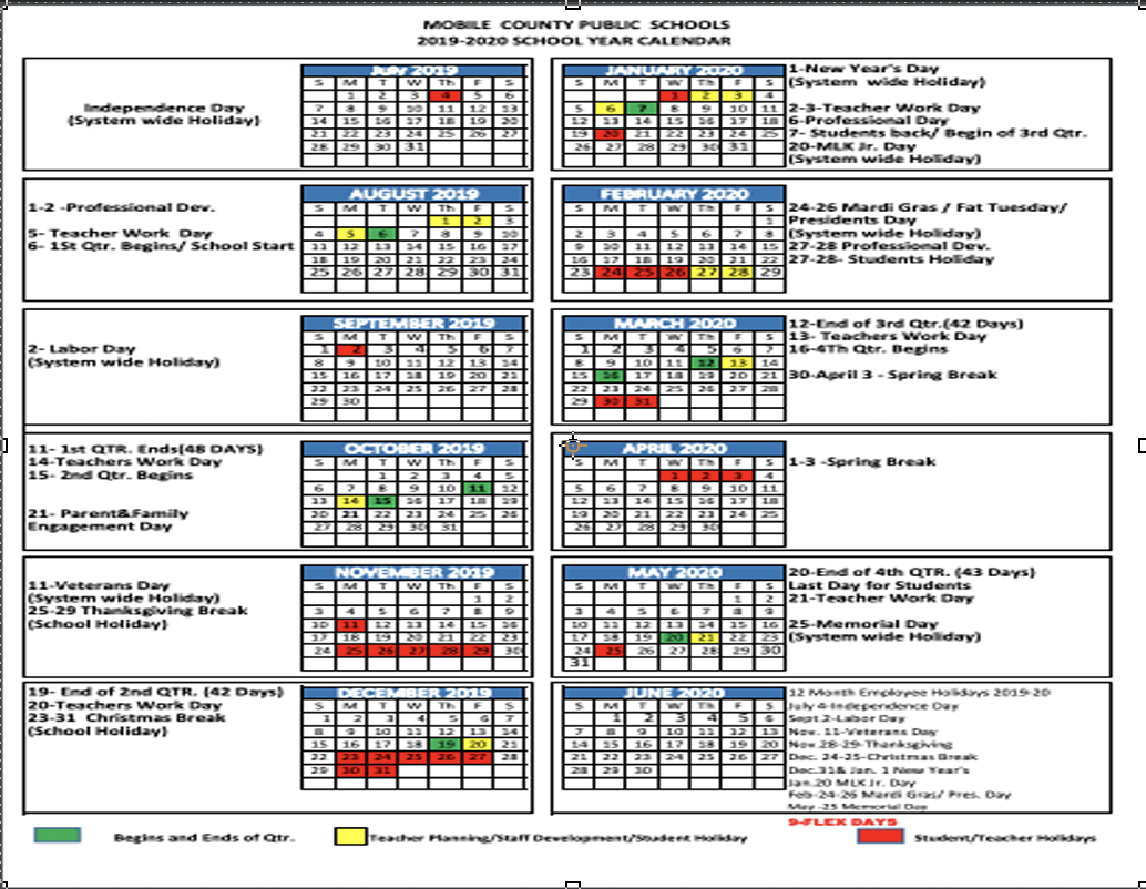 graphic about Printable School Year Calendar titled Faculty Yr Calendars