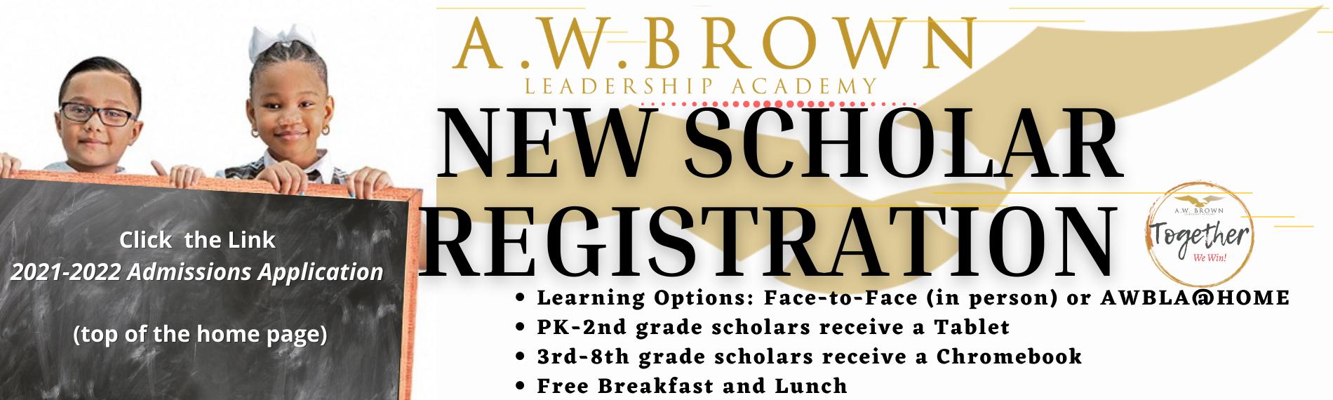 New Scholar Registration