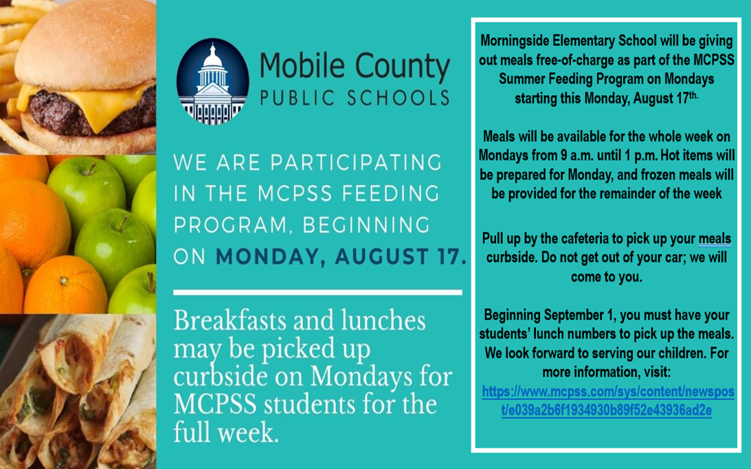 Free Breakfast and Lunch Program: August 17th - August 31st