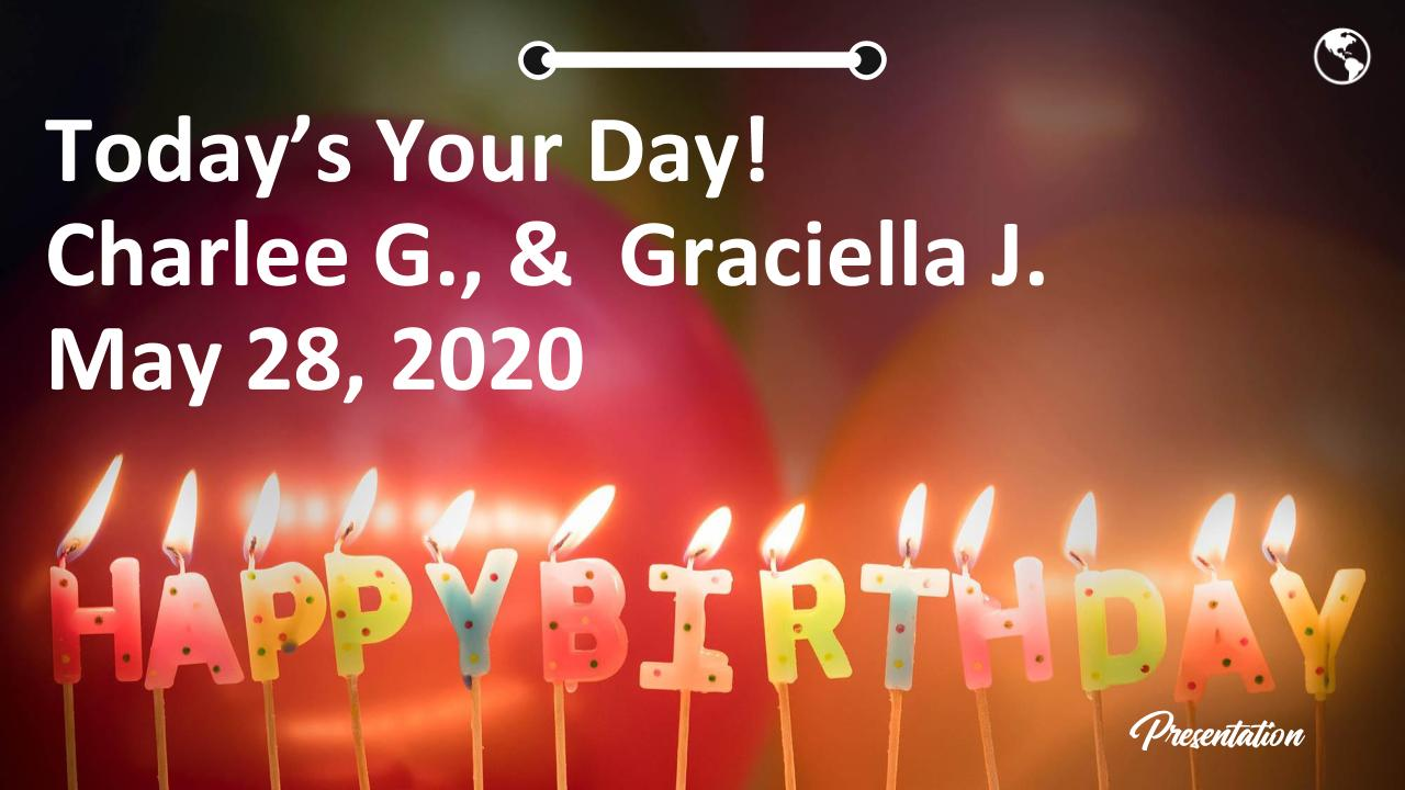 Today's Your Day! Charlee G., &  Graciella J. May 28, 2020