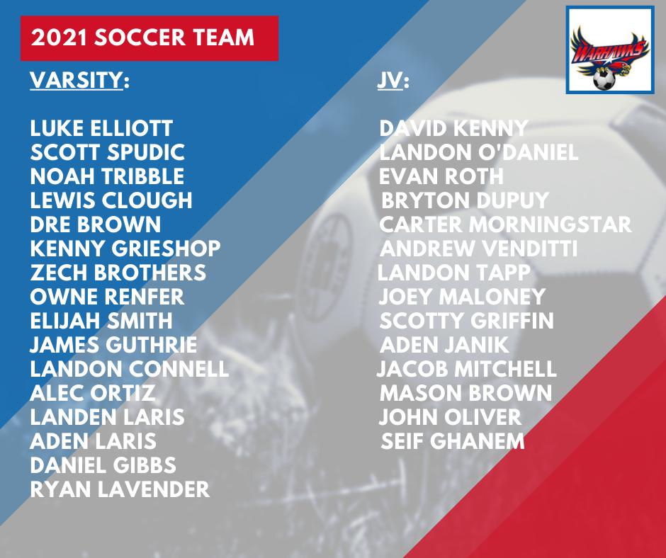 2021 Warhawk Soccer Rosters