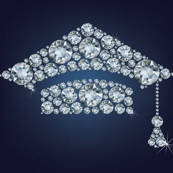 Diamond graduation cap image