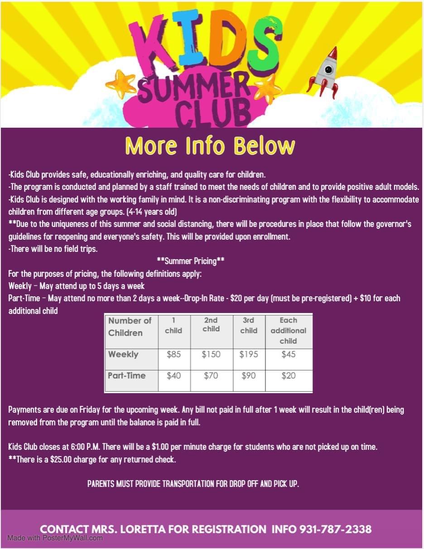 North Elementary Kids Summer Club