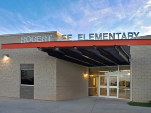 Front view of Robert Lee Elementary
