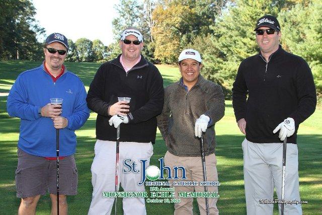 Monsignor Echle Memorial golf tournament golfers