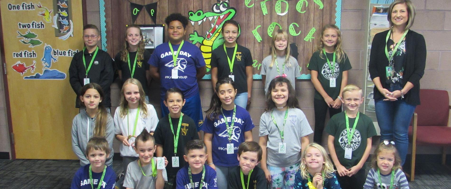 picture of students who earned Croc of the Week award