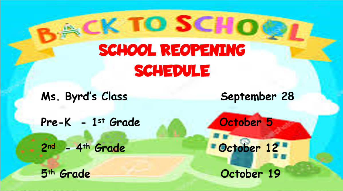 Reopening Schedule