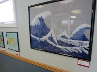 Photo of student artworks
