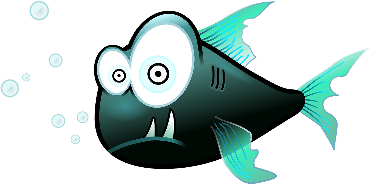 surprised cartoon fish
