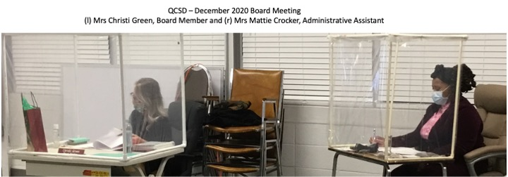Mrs Green and Mrs Crocker December 2020 Board Meeting