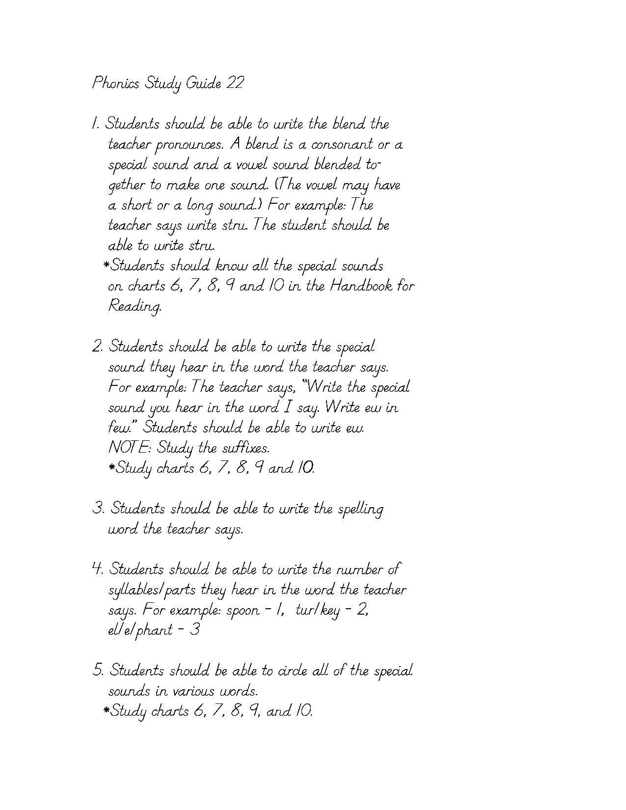 Phonics Study Guide 11
