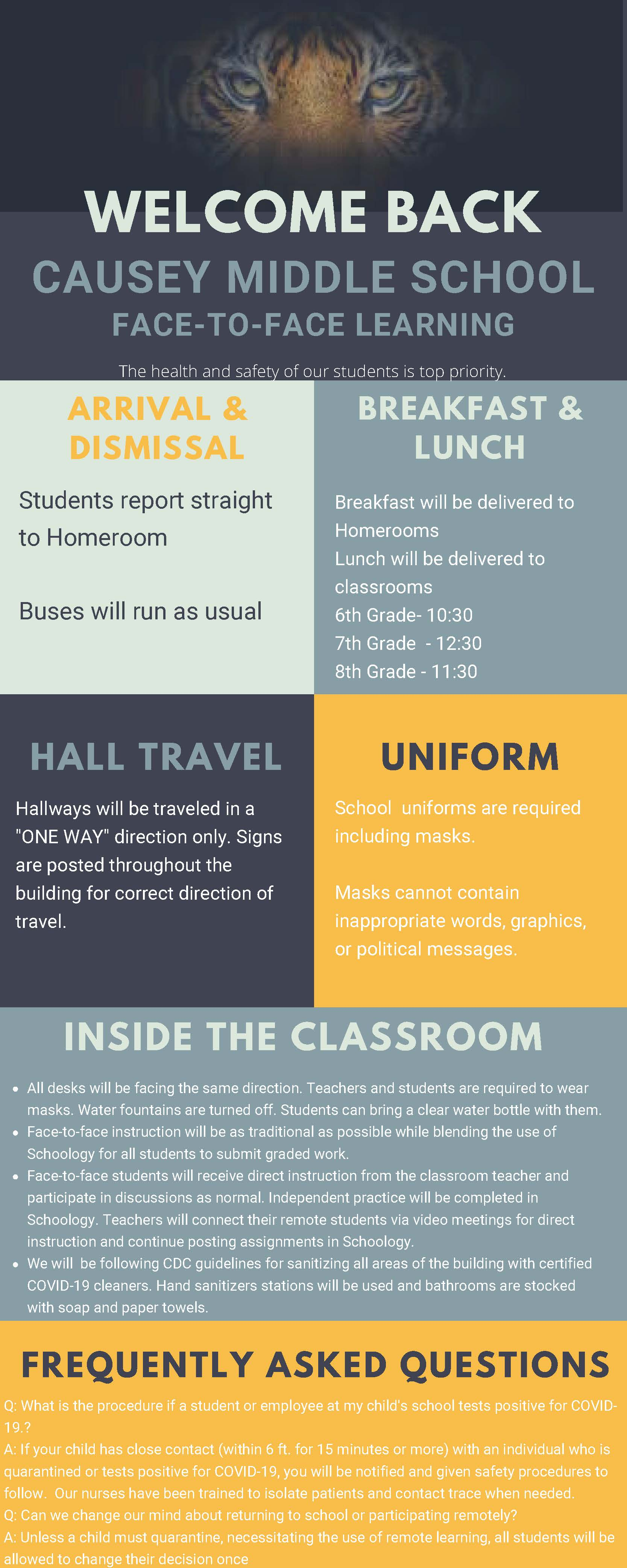 Return to School Plan October 2020