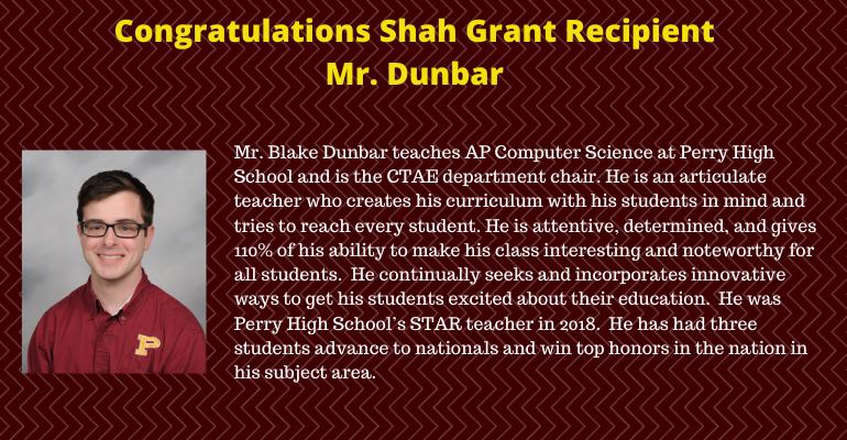 Dunbar Shah Award