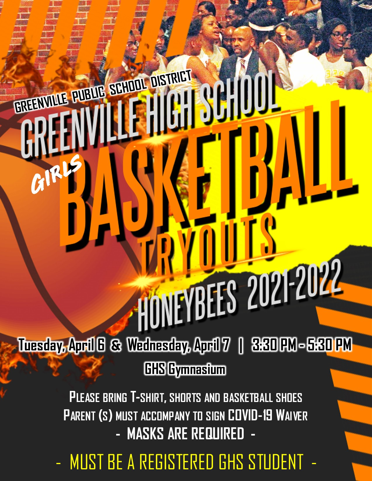 GHS Girls Basketball Tryouts
