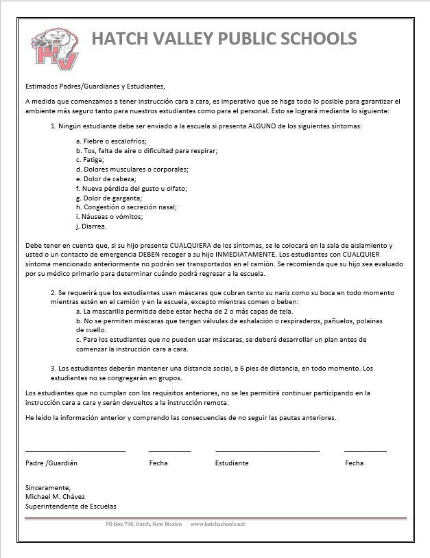 Health Contract Spanish