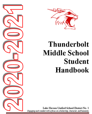 middle school handbook cover art