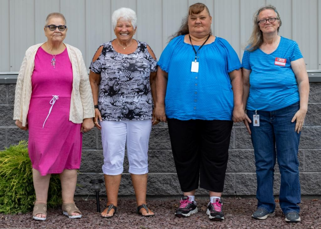This year at Bradford-Tioga Head Start's kickoff in-service day, foster grandparents were recognized. From left to right) are: Vicki Adams (Athens 2); Jo Malier (Troy 2); Martha Spencer (Canton 2); Patty Beals (Canton 1).  Missing from picture:  Elly Loomis (Troy 1).